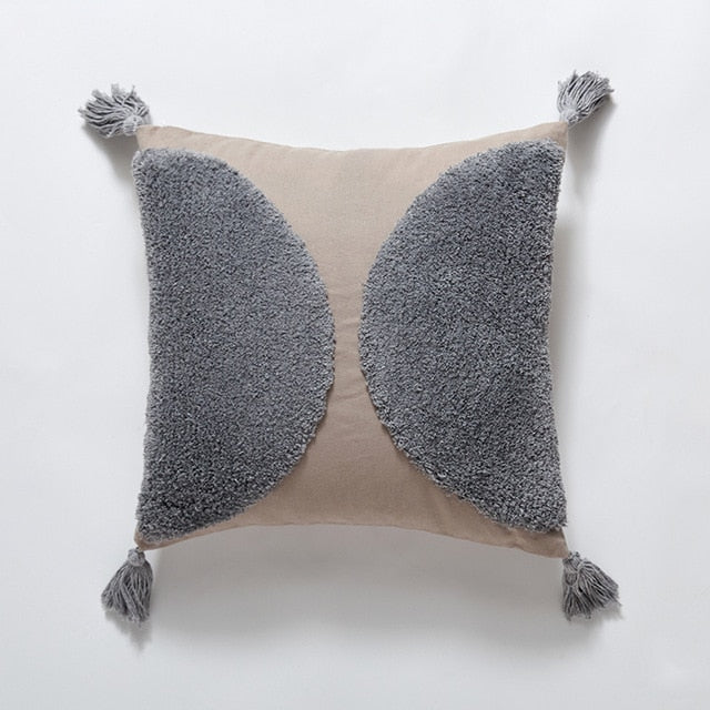 Hand Tufted Cotton Pillow Covers 18x18 inch