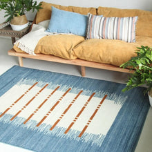 Load image into Gallery viewer, Modern Boho Denim Effect Area Rug for Office and Room Decor