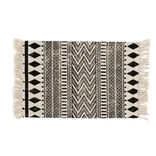 Load image into Gallery viewer, Ethnic Geo Area Rug in Cotton Canvas for Bath, Bed, Living Room