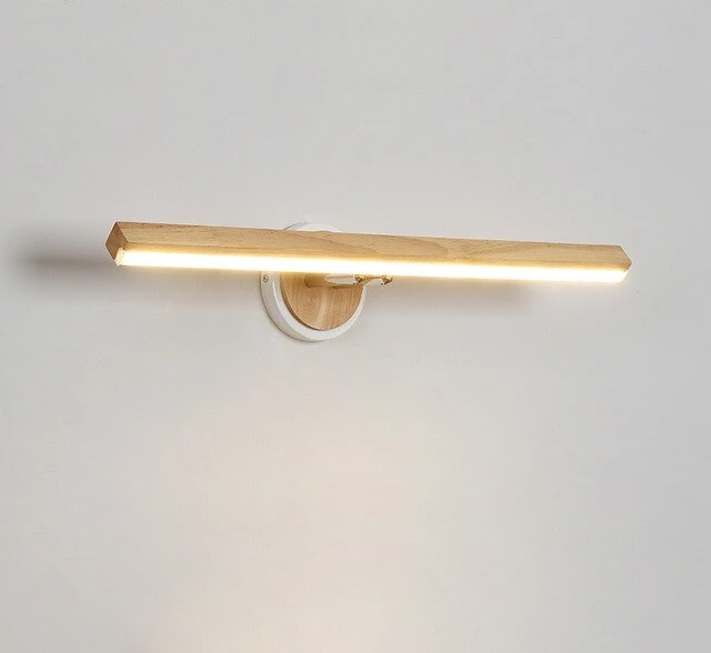 Modern Wall Light in Wood with LED bulbs