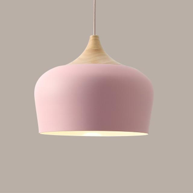 Soft Pastel Palette Pendant Lights in Metal & Wood