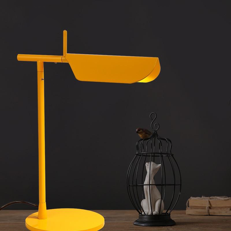 yellow metallic Post Modern table lamp
