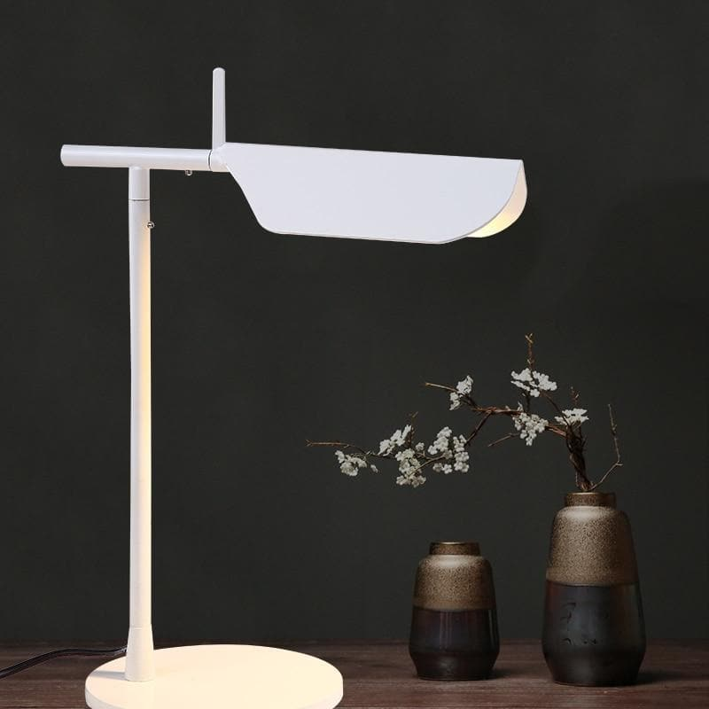 white metallic Post Modern table lamp