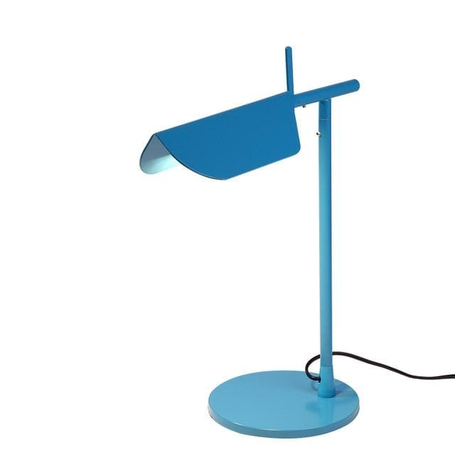 blue metallic Post Modern table lamp