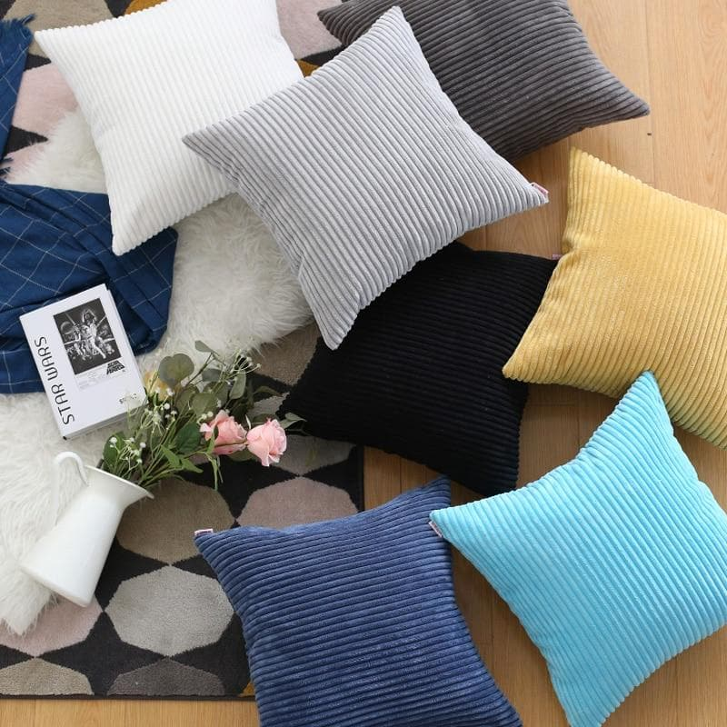Corduroy Cushion Covers in Bright colors 17x17 24x24
