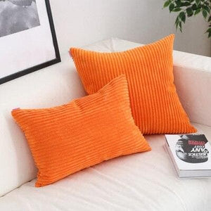 Corduroy Cushion Covers in Bright colors 17x17 24x24 Orange