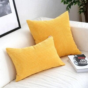 Corduroy Cushion Covers in Bright colors 17x17 24x24 Orange light