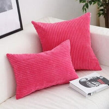 Load image into Gallery viewer, Corduroy Cushion Covers in Bright colors 17x17 24x24 Fuscia Pink