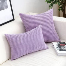 Load image into Gallery viewer, Corduroy Cushion Covers in Bright colors 17x17 24x24 Lilac
