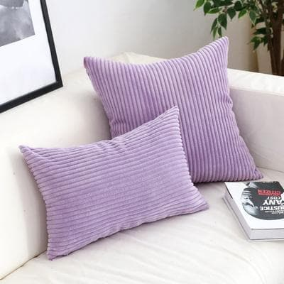Corduroy Cushion Covers in Bright colors 17x17 24x24 Lilac