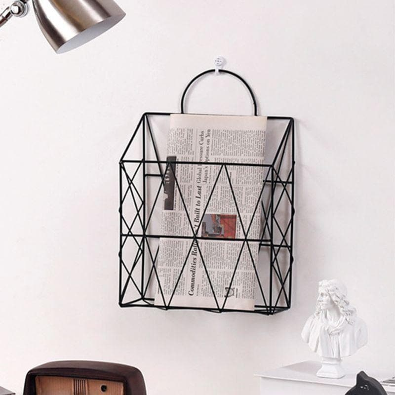New Minimalist Metal Magazine Organizer for Home Office Decor