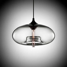 Load image into Gallery viewer, Modern Color Glass Sphere Metal Pendant Light Clear