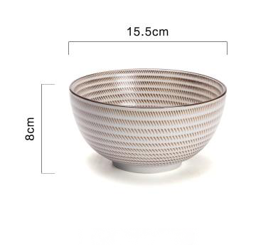 Japanese Ceramic Porcelain Bowls and Plates for Modern Kitchen Ivory