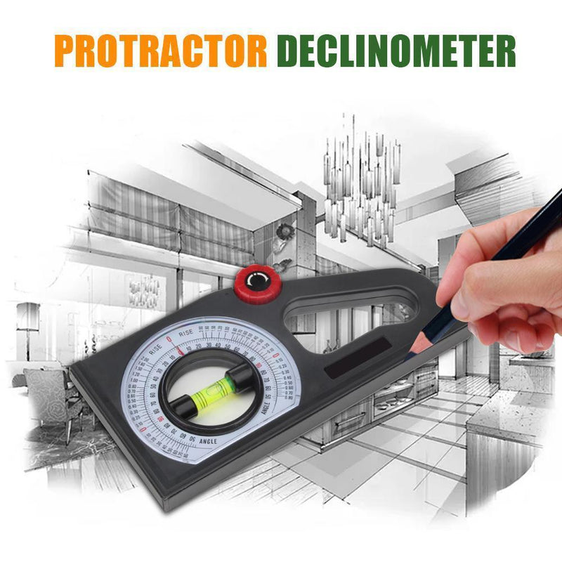 Slope Horizontal Vertical Angle Bevel Protractor Declinometer