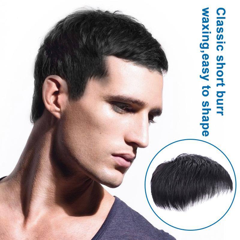 Seamless Male Short Black Hair Topper