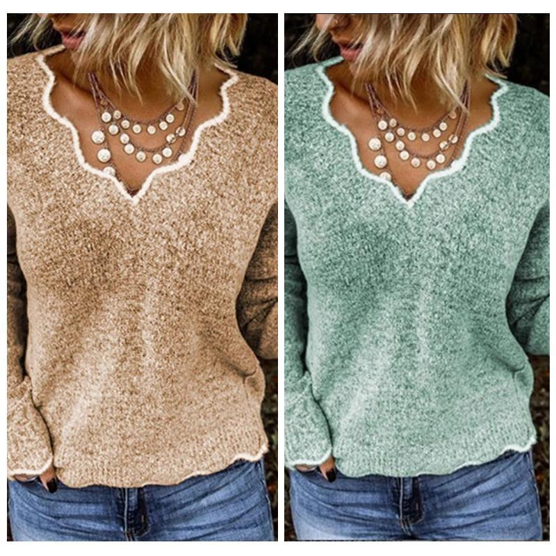 Casual V-neck Sweater