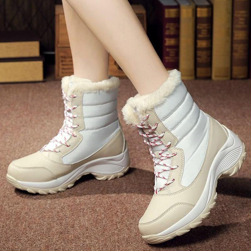 Waterproof Women High-Top Cotton Shoes