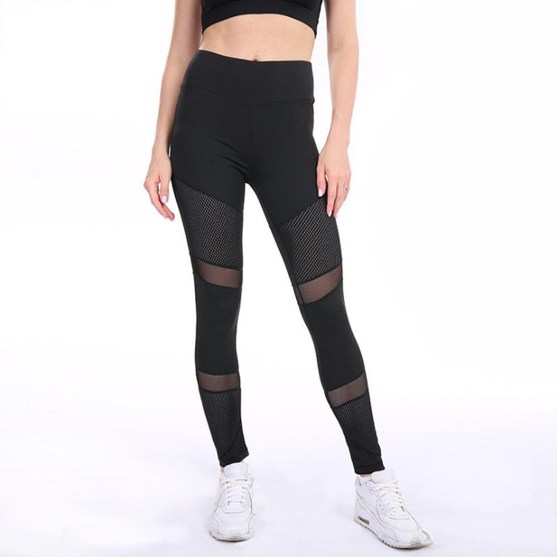 Breathable Mesh Stitching Sports Pants