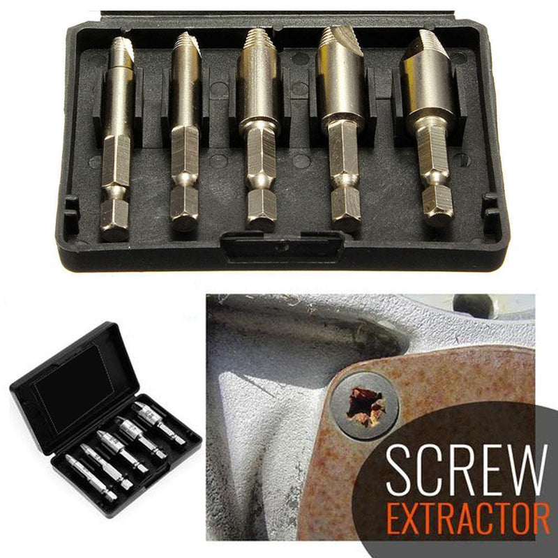 Damaged Screw Extractor, Set of 5