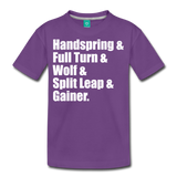 Gymnast Beam Premium T-Shirt - purple
