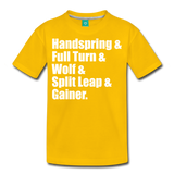 Gymnast Beam Premium T-Shirt - sun yellow