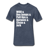WOD Athletic Cut Crossfit Tee - heather navy