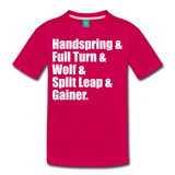 Gymnast Beam Premium T-Shirt - dark pink
