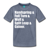 Gymnast Beam Premium T-Shirt - heather blue