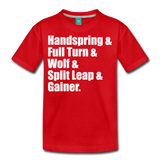 Gymnast Beam Premium T-Shirt - red
