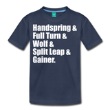 Gymnast Beam Premium T-Shirt - navy