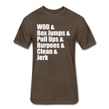 WOD Athletic Cut Crossfit Tee - heather espresso