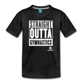 Straight Outta Gymnastics Premium T-Shirt - charcoal gray