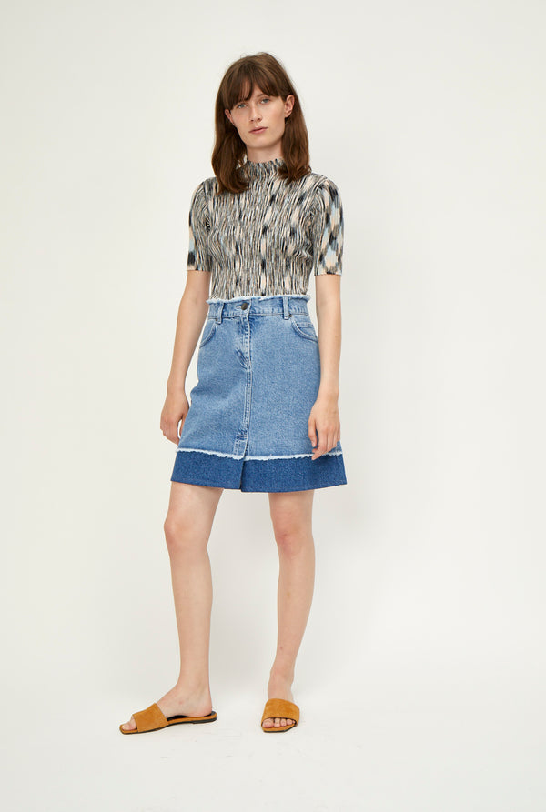 Norma denim skirt