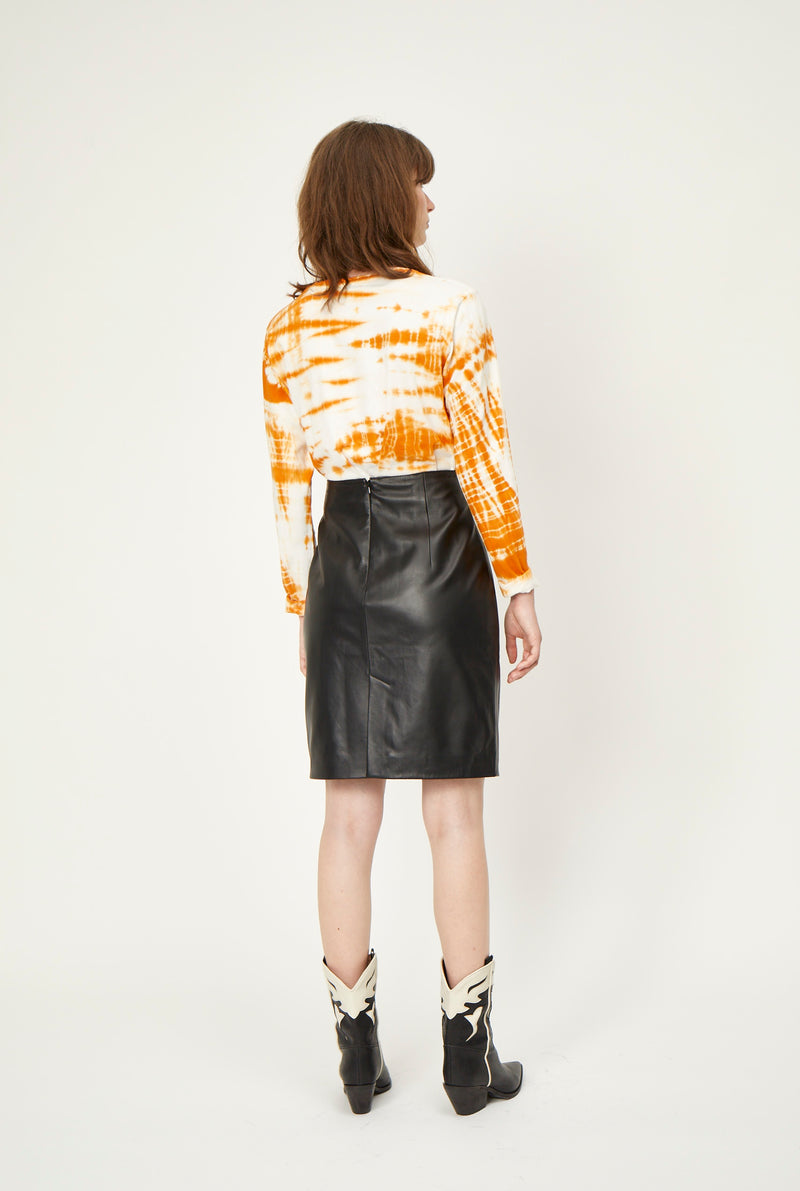 Sigga leather skirt