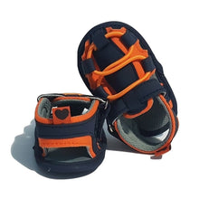 Load image into Gallery viewer, BigglyBoo Baby Sandals — Bright Orange Walkies