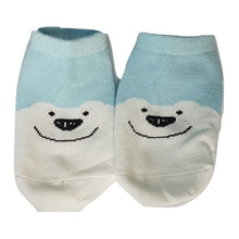 Load image into Gallery viewer, BigglyBoo Animals Baby Socks — Blue Bear