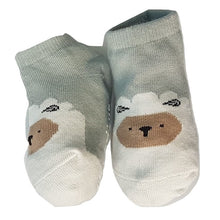 Load image into Gallery viewer, BigglyBoo Animals Baby Socks — Sleepy Sheepy