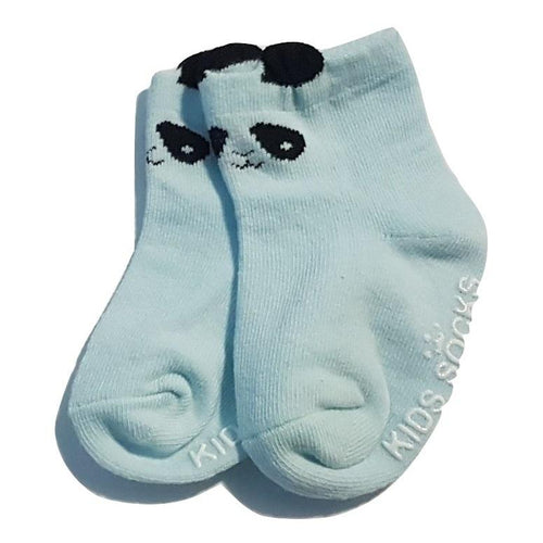 BigglyBoo Animals Baby Socks — Blue Panda - BigglyBoo Baby Socks