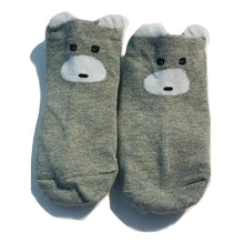 Load image into Gallery viewer, BigglyBoo Animals Baby Socks — Curious Bear - BigglyBoo Baby Socks