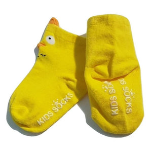 BigglyBoo Animals Baby Socks — Yellow Chickie - BigglyBoo Baby Socks