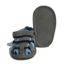Load image into Gallery viewer, BigglyBoo Baby Sandals — Bright Blue Walkies - BigglyBoo Baby Socks