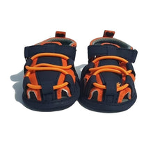 Load image into Gallery viewer, BigglyBoo Baby Sandals — Bright Orange Walkies - BigglyBoo Baby Socks