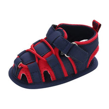 Load image into Gallery viewer, BigglyBoo Baby Sandals — Bright Red Walkies - BigglyBoo Baby Socks