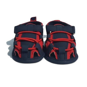 BigglyBoo Baby Sandals — Bright Red Walkies - BigglyBoo Baby Socks