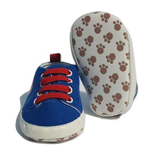 Load image into Gallery viewer, BigglyBoo Baby Shoes — Football Sneakies - BigglyBoo Baby Socks