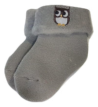 Load image into Gallery viewer, BigglyBoo Winter Baby Socks — Winter Owlie - BigglyBoo Baby Socks