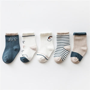 5 Pair Baby Sock Pack A