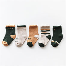 Load image into Gallery viewer, 5 Pair Baby Sock Pack A