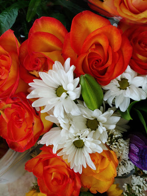Fresh Orange Colored Roses