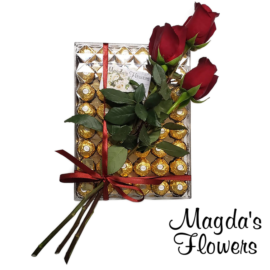 Long Stem Roses & Chocolates